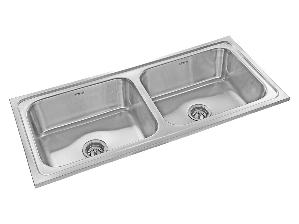 1155 Mm X 515 Mm Victor Twin 10 Stainless Steel Double Bowl Kitchen Sink Gloss Finish Nk Db16 G Kitchen Fittings Kitchen Sinks Buy 1155 Mm X 515 Mm