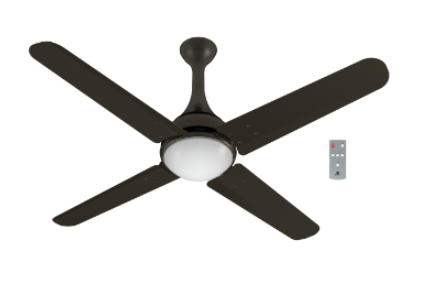 b893f7ba676 Futuro with Underlight 1320 mm Sweep Ceiling Fan Black Nickel ...