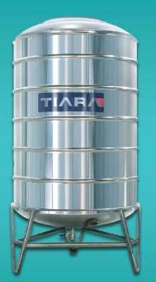One Layer Cylindrical Stainless Steel Water Tank 500 Litre